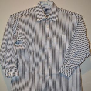Tommy Hilfiger Long Sleeve Dress Shirt Size 17 T